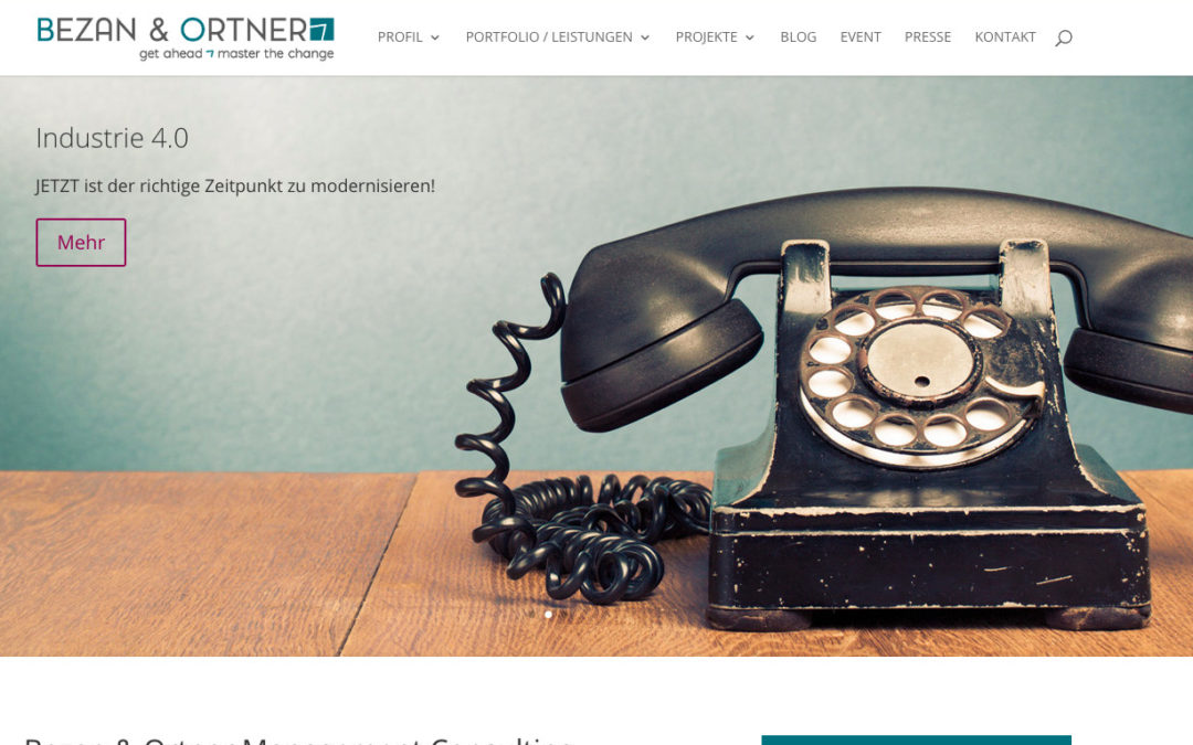 Neue Homepage für Bezan & Ortner Consulting
