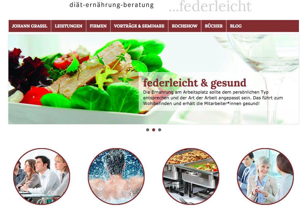 Neue Homepage federleicht.at online